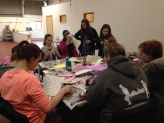 Getting crafty at our Easter weekend away.