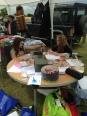 Getting creative at Harvington Village Fete.