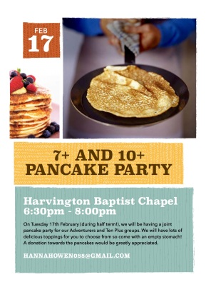 pancake party 17.2.15